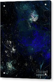 Acrylic Print featuring the digital art Andee Design Abstract 81 2017 by Andee Design