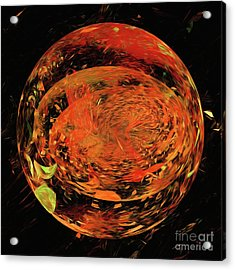 Acrylic Print featuring the digital art Andee Design Abstract 82 2017 by Andee Design
