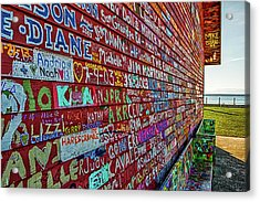 Anderson Warehouse Graffiti  Acrylic Print