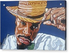 Acrylic Print featuring the painting Andre Benjamin by Rachel Natalie Rawlins