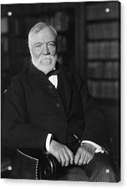 Andrew Carnegie Seated In A Library Acrylic Print