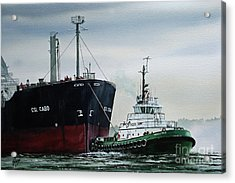Andrew Foss Ship Assist Acrylic Print by James Williamson