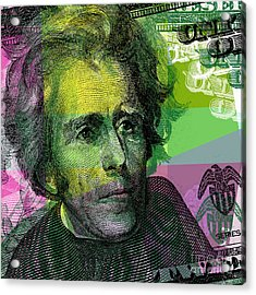 Acrylic Print featuring the digital art Andrew Jackson - $20 Bill by Jean luc Comperat