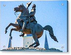 Andrew Jackson Statue - Nola- Impasto Acrylic Print