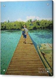 Andrew Acrylic Print by Jennifer Watson