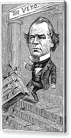 Andrew Johnson Cartoon Acrylic Print by Granger