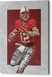 Andrew Luck Stanford Cardinals Art Acrylic Print