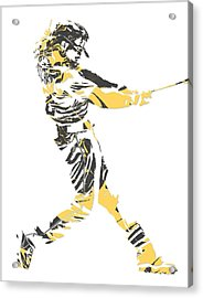Andrew Mccutchen Pittsburgh Pirates Pixel Art 2 Acrylic Print