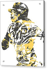 Andrew Mccutchen Pittsburgh Pirates Pixel Art 3 Acrylic Print