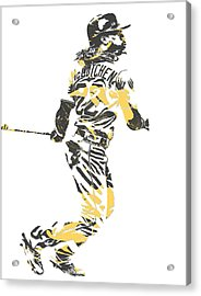 Andrew Mccutchen Pittsburgh Pirates Pixel Art 4 Acrylic Print