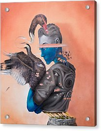 Acrylic Print featuring the painting Androgenetic by Obie Platon