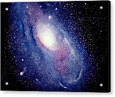 Acrylic Print featuring the painting Andromeda Galaxy by Allison Ashton