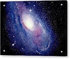 Andromeda Galaxy Acrylic Print by Allison Ashton