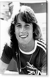 Acrylic Print featuring the photograph Andy Gibb 1977 by Chris Walter