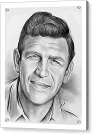 Andy Griffith Acrylic Print by Greg Joens