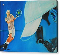 Acrylic Print featuring the painting Andy Roddick by Quwatha Valentine