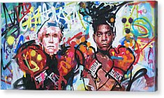 Andy Warhol And Jean-michel Basquiat Acrylic Print