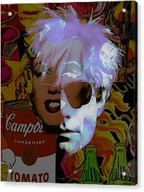Andy Warhol Collectioin Acrylic Print by Marvin Blaine
