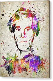 Andy Warhol In Color Acrylic Print by Aged Pixel