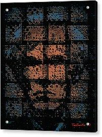 Andy Warhol Weave   Series   Acrylic Print by Teodoro De La Santa