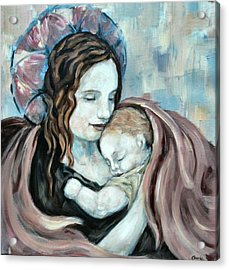 Angel And Baby No. 5 Acrylic Print