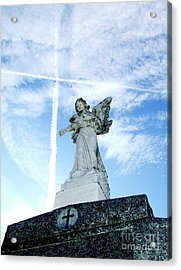 Angel And Crosses Acrylic Print