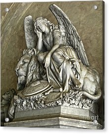 Angel And Lion Statue Acrylic Print