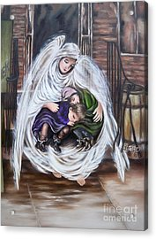 Flying Lamb Productions.        Angel And The Orphans Acrylic Print