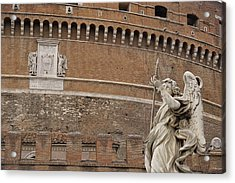 Angel At The Castel Acrylic Print by JAMART Photography