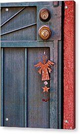 Angel At The Door Acrylic Print by Carol Leigh
