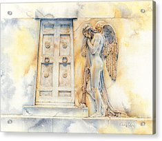 Angel At The Gate Acrylic Print by David Evans