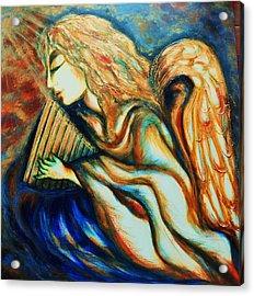 Acrylic Print featuring the greeting card Angel Awakening by Rae Chichilnitsky