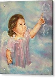Angel Baby Acrylic Print by Joni McPherson
