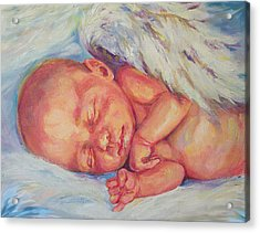 Angel Baby Acrylic Print by Peggy Wilson