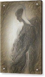Angel Backlit Acrylic Print by Quim Abella