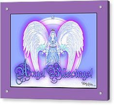 Acrylic Print featuring the digital art Angel Blessings #196 by Barbara Tristan