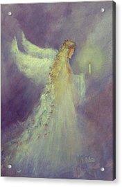 Angel Bright Acrylic Print by Sally Seago
