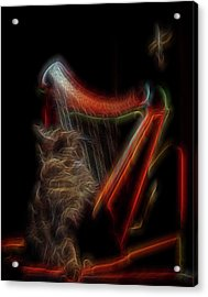 Angel Cat Acrylic Print by William Horden