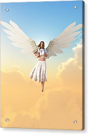 Angel Acrylic Print by Christian Art