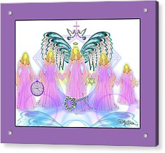 Acrylic Print featuring the digital art Angel Cousins #198 by Barbara Tristan