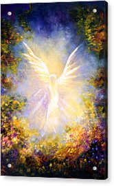 Angel Descending Acrylic Print by Marina Petro
