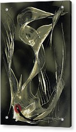 Acrylic Print featuring the painting Angel Fish Abstract by Jason Girard