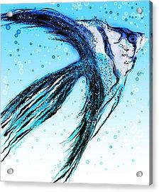 Angel Fish Art Acrylic Print
