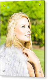 Angel From Heaven Acrylic Print by Jorgo Photography - Wall Art Gallery
