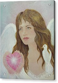 Angel Heart Acrylic Print