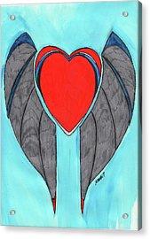 Angel Heart Acrylic Print by Ronald Woods