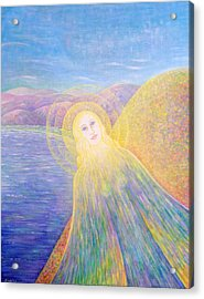 Angel Acrylic Print by Hiske Tas Bain