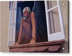 Angel In A Window In Frederick Maryland Acrylic Print