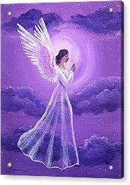 Angel In Amethyst Moonlight Acrylic Print