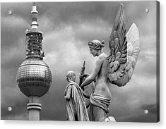 Angel In Berlin Acrylic Print by Marc Huebner